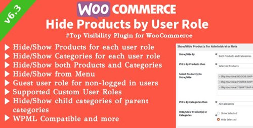 CodeCanyon - WooCommerce Hide Products v6.3.2 - Products, Categories Visibility by User Roles - 8028838