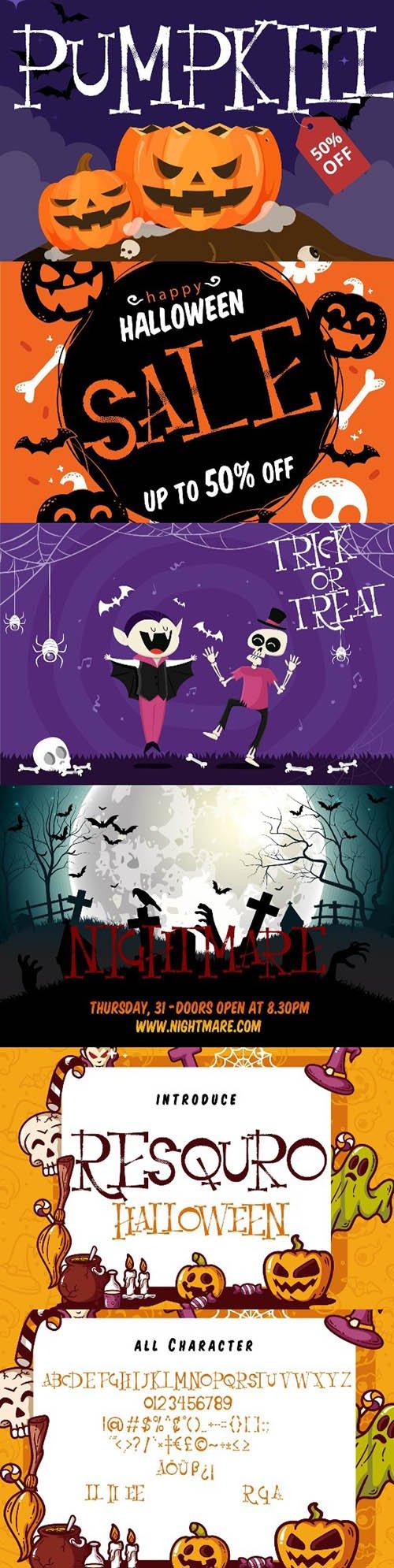 Resquro Halloween   Decorative Font