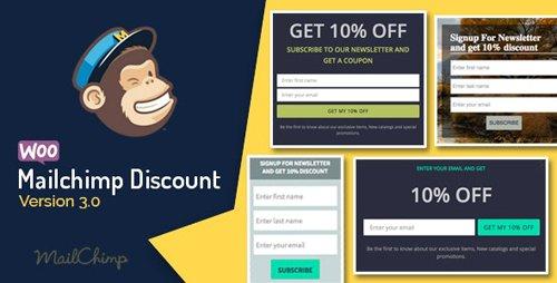 CodeCanyon - Woocommerce Mailchimp Discount v3.5 - 10229569