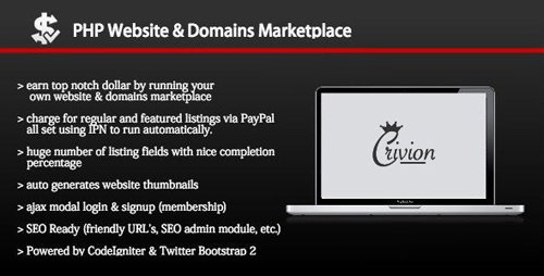CodeCanyon - PHP Website and Domains Marketplace v1.6.1 - 10301900