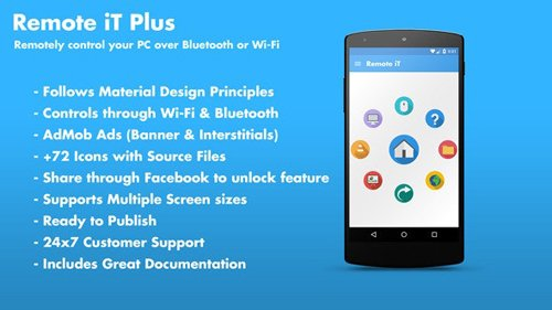CodeCanyon - Remote iT Plus v2.0 - Control your PC + Admob + Share - 11146076