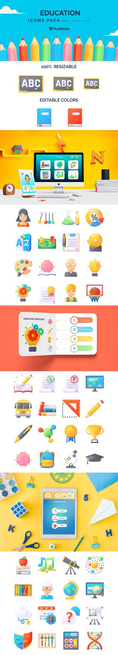 50 Education Icons Pack
