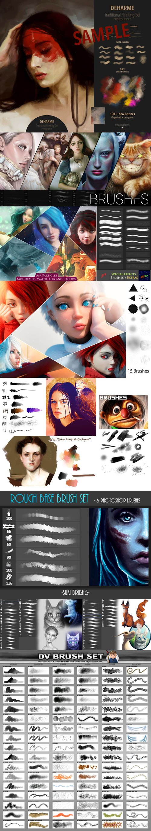250+ Brushes Collection with Awesome Special Effects