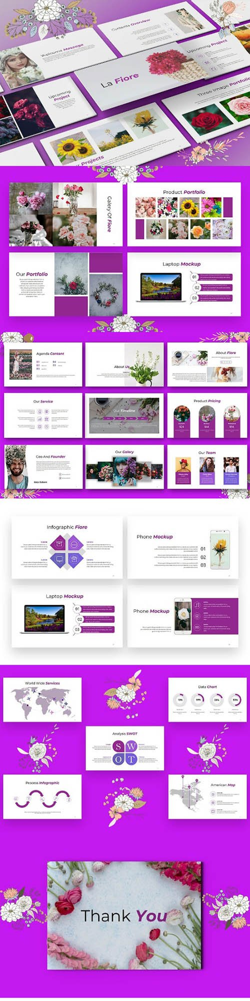 La Fiore - Elegant PowerPoint , Keynote and Google Slides