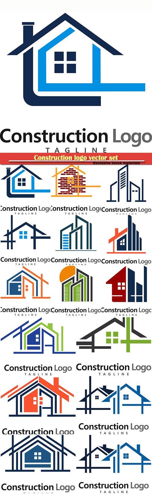 Construction logo vector set
