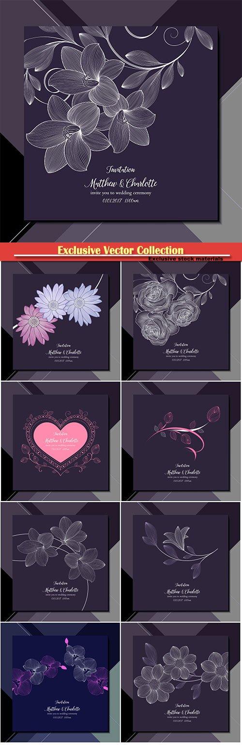 Vector invite you to wedding ceremony