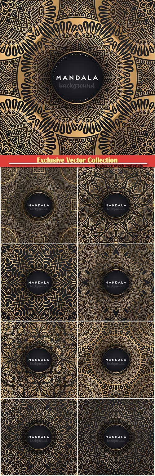 Luxury ornamental mandala vector