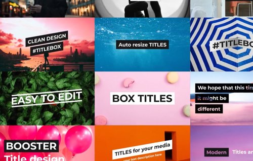BOX Titles and Lower Thirds for After Effects 24573101