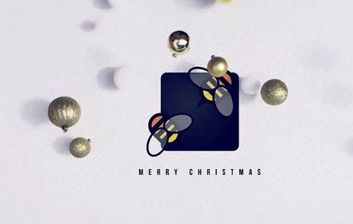 Falling Christmas Logo 13695843