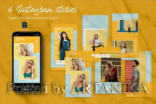 Yellow Instagram Stories