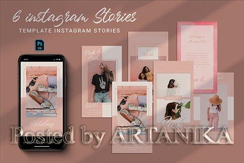 Pink Instagram Stories