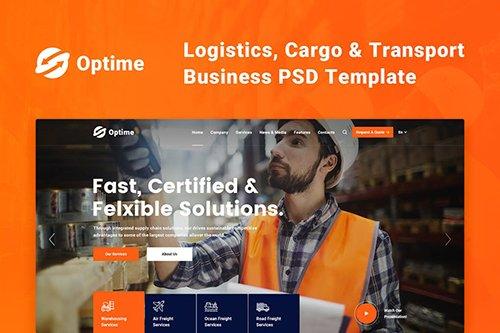 Optime - Logistics, Cargo & Transport PSD Template