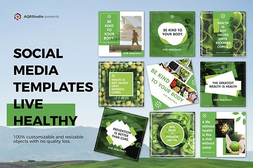 Healthy Life Media Banners