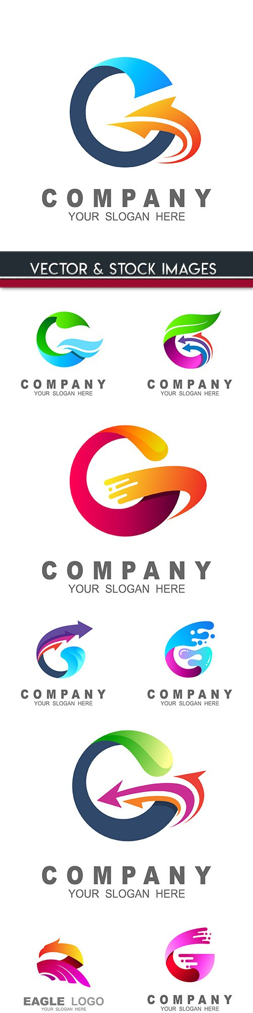 Creative business logos company design 28