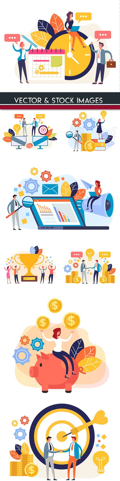 People business concept flat style design