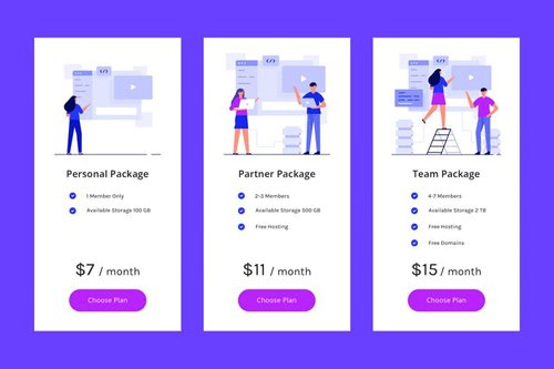Pricing Table Vol.5