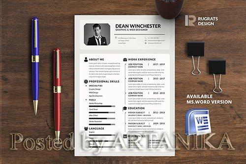 Minimalist CV Resume R5