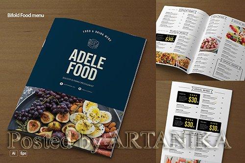Bifold Food menu