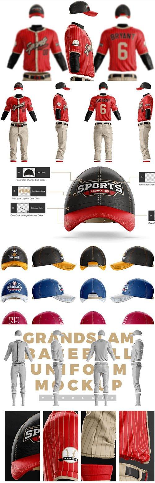 Grandslam Baseball Uniform Template PSD