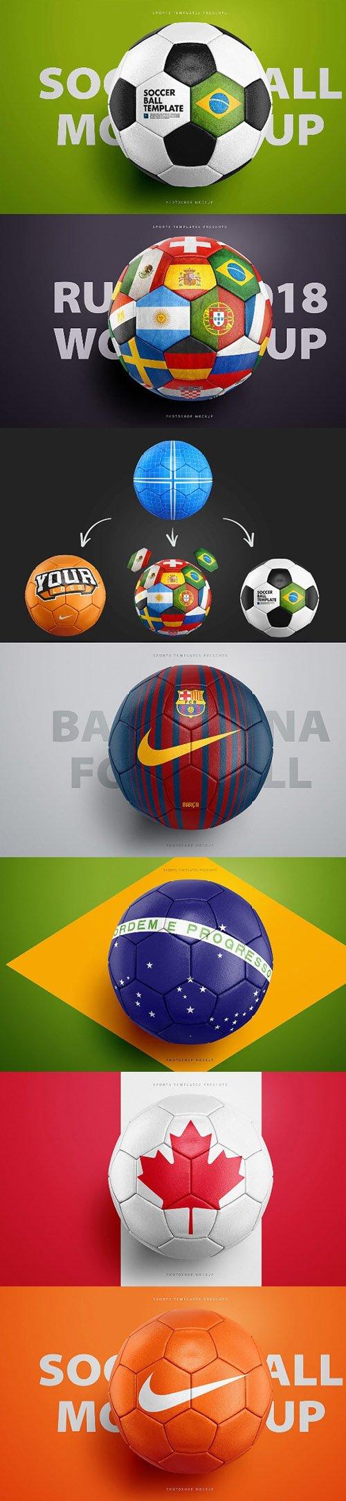 Football / Soccer Ball Photoshop Mockup PSD