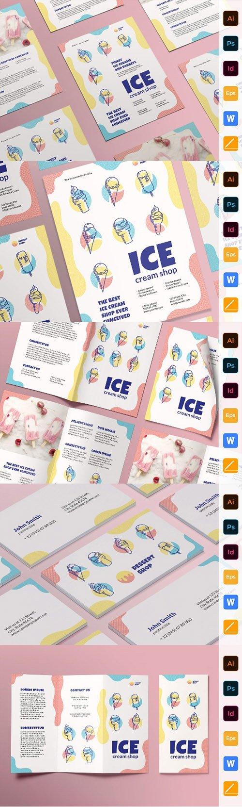 Ice Cream Shop Print Set