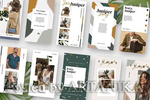 Ivory Juniper Stories Template