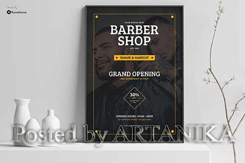 Shave - Grand Opening Barbershop Poster