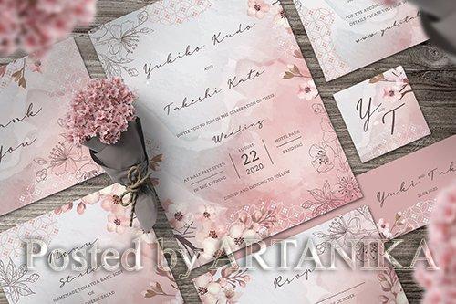 Sakura Wedding Invitation Set