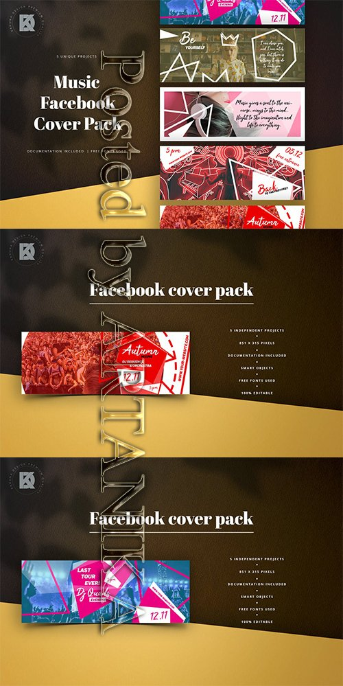 Music Facebook Cover Pack