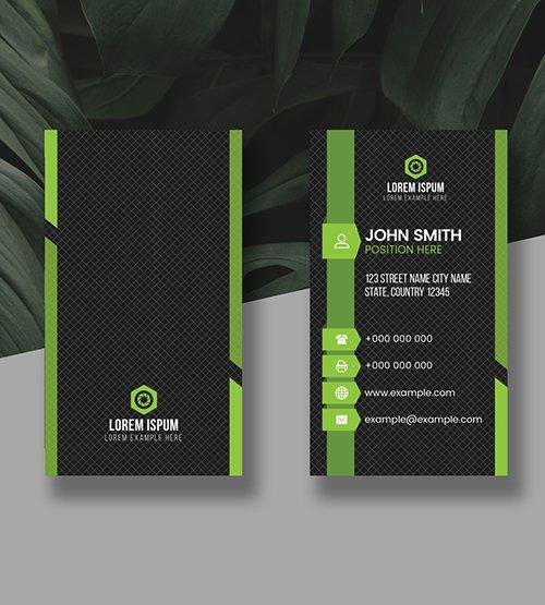 Green Vertical Business Card Layout 278998323 AIT