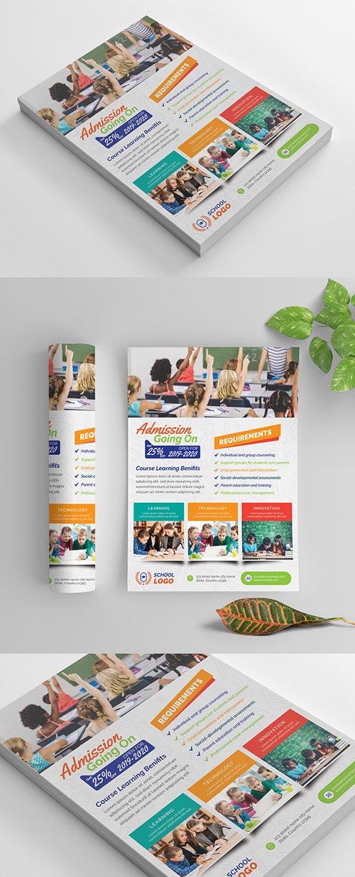 Multicolored School Flyer Layout 269583847 AIT
