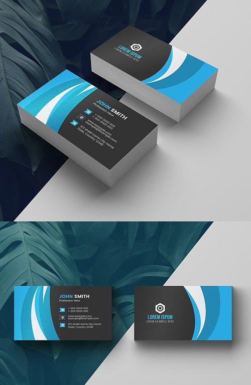 Blue Business Card Layout 277926642 AIT