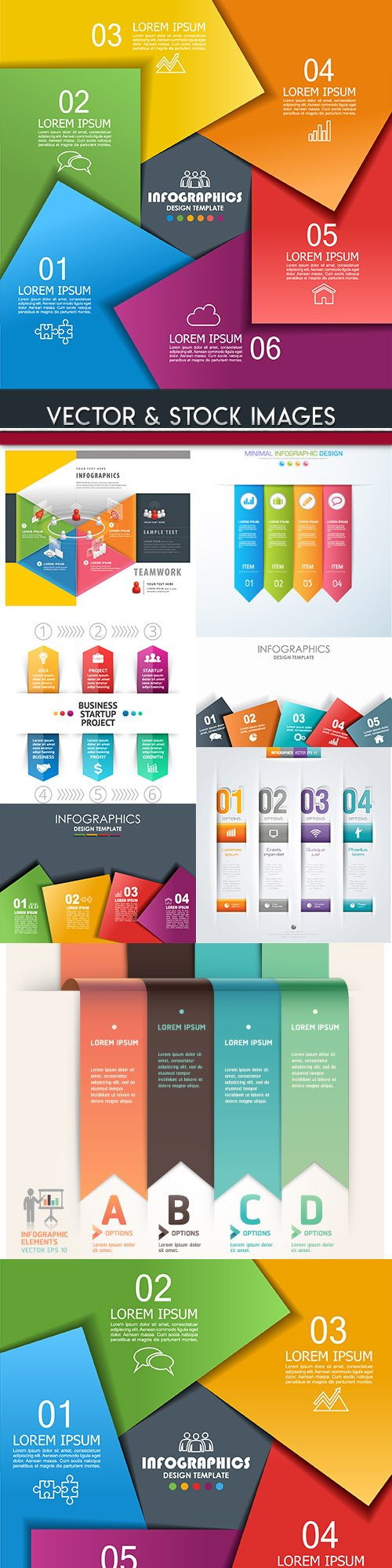 Business infographics options elements collection 97
