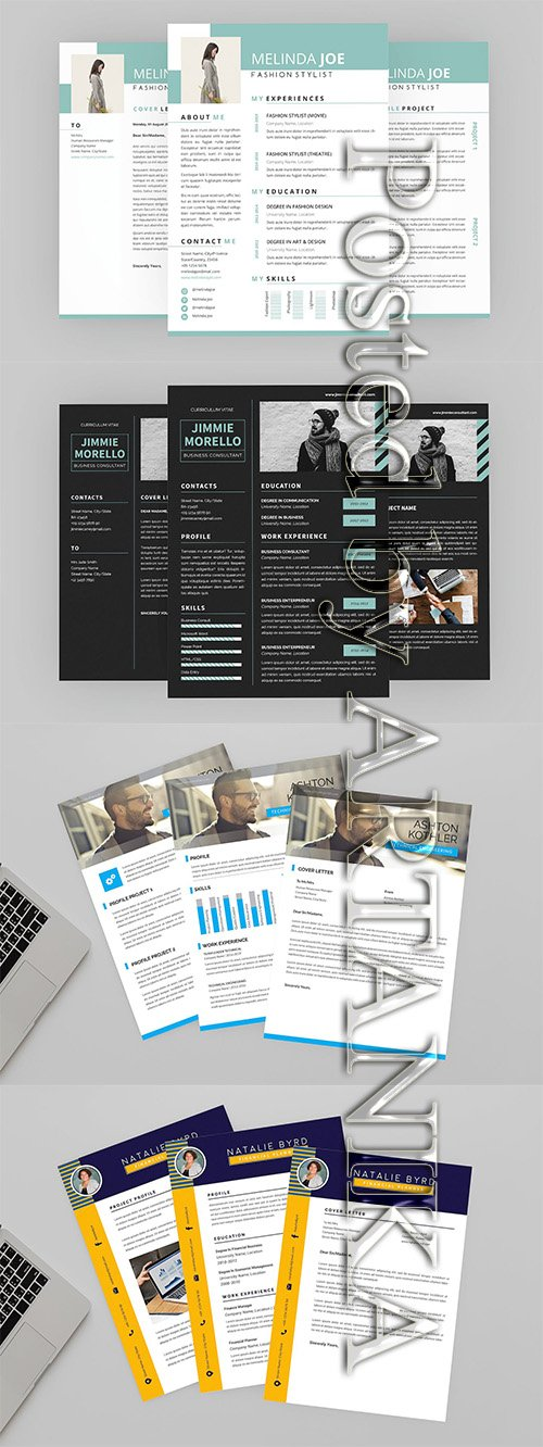CV Resume Designer Template Set