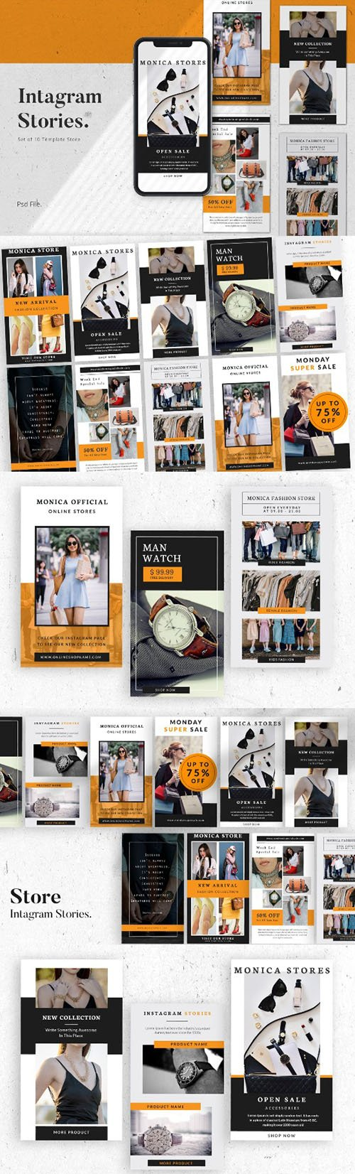 Store Social Media Instagram Stories Template PSD