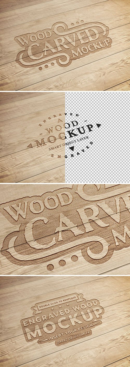 Carved Wood Text Effect Mockup 288921401 PSDT