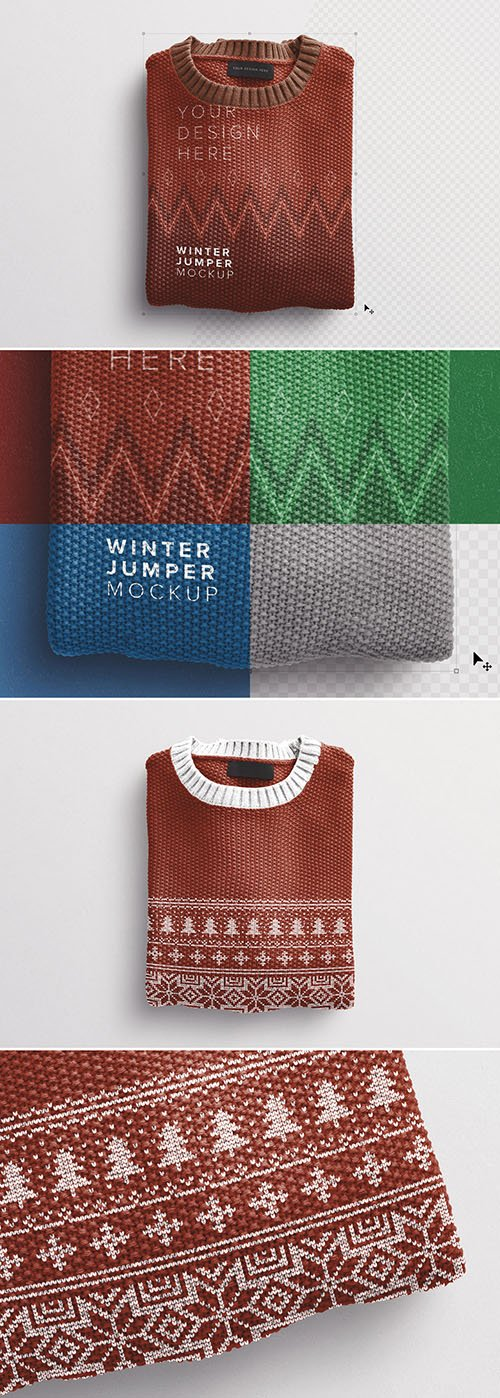 Winter Jumper Mockup 289174373 PSDT