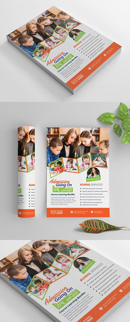 Multicolored School Flyer Layout 269583914 AIT