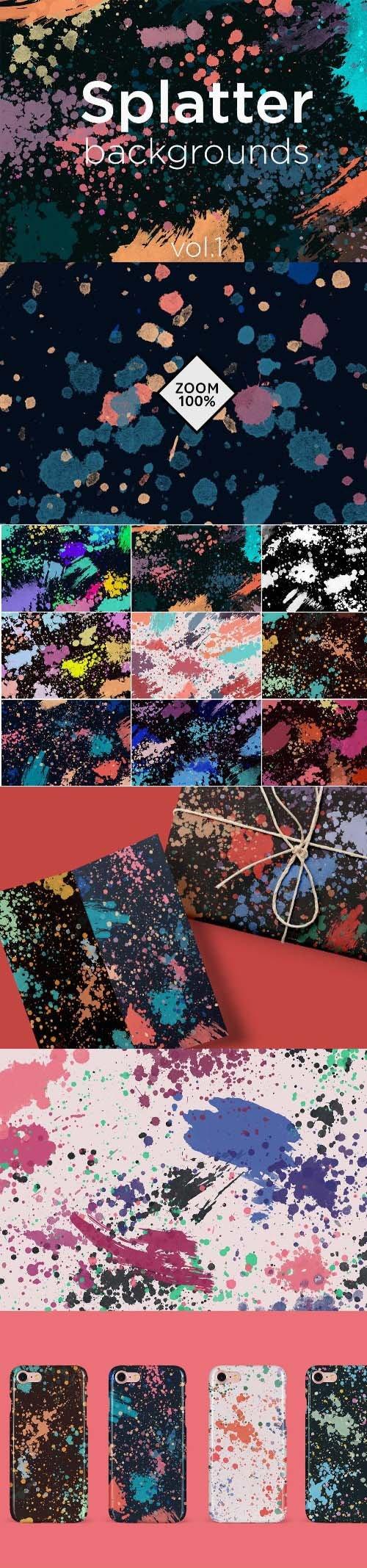 Splatter Backgrounds 1