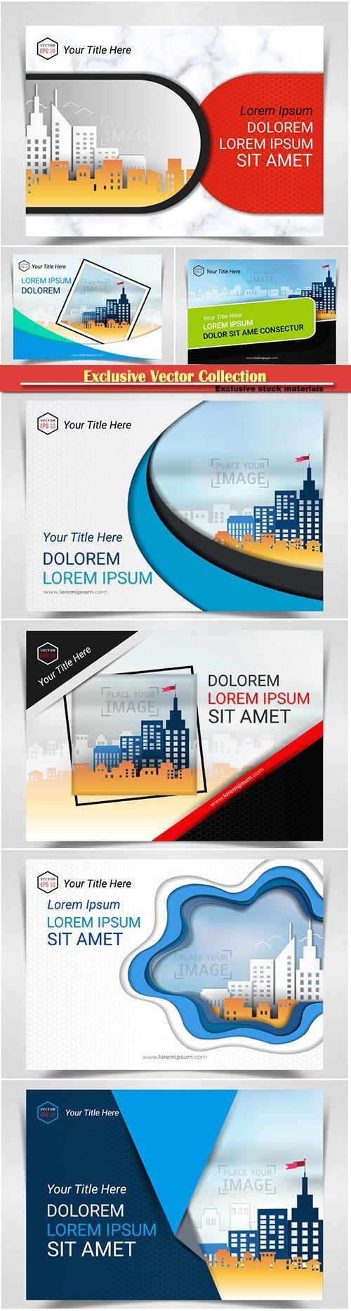 Brochure cover design vector template # 6