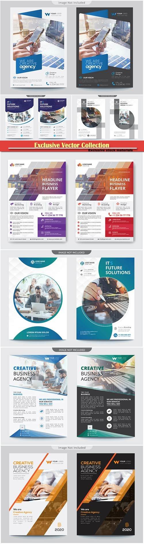 Brochure cover design vector template # 7