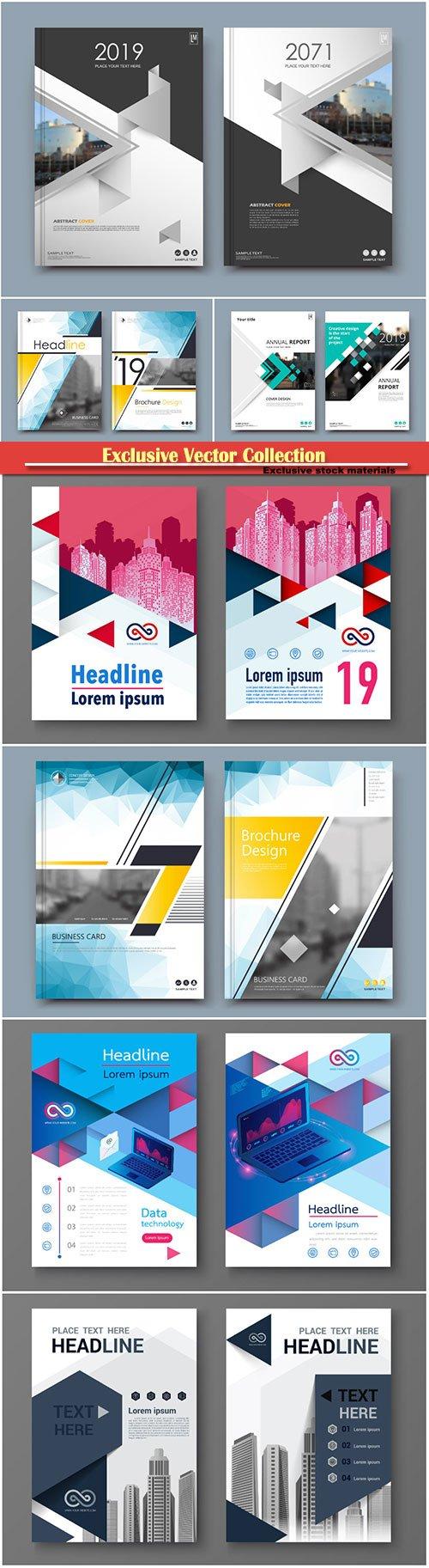 Brochure cover design vector template # 8