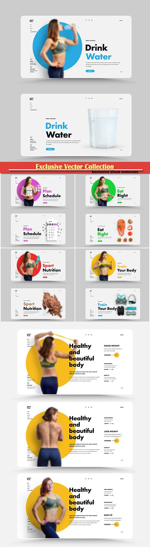 Design is the main page of the website for a sports trainer, nutritionist or gym