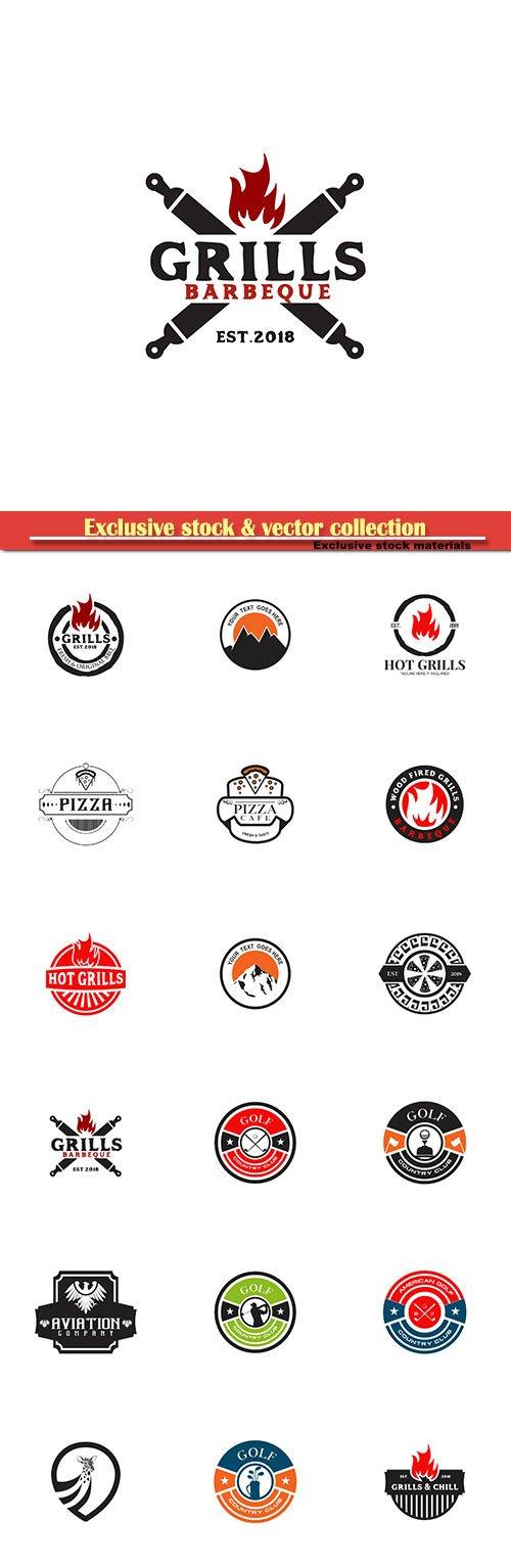 Logo vector template business set # 15
