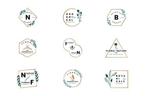 Botanical Logo Frames