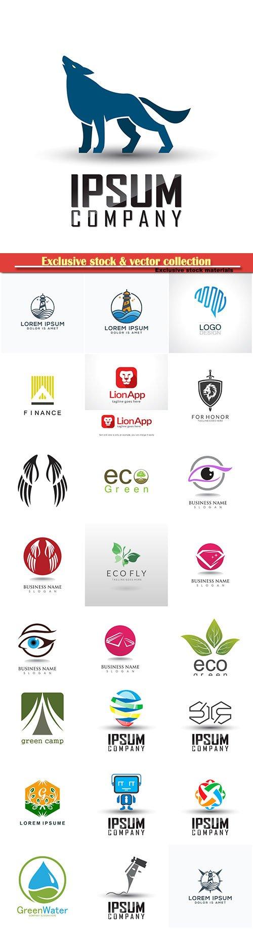Logo vector template business set # 20