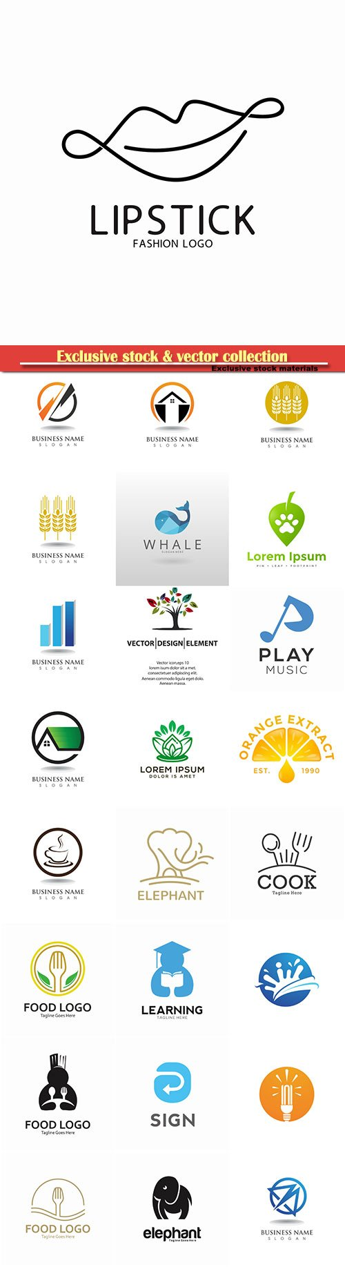 Logo vector template business set # 19
