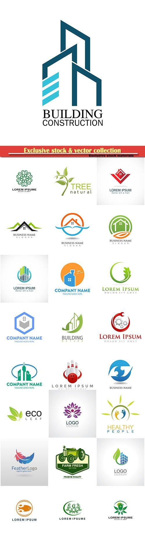 Logo vector template business set # 16