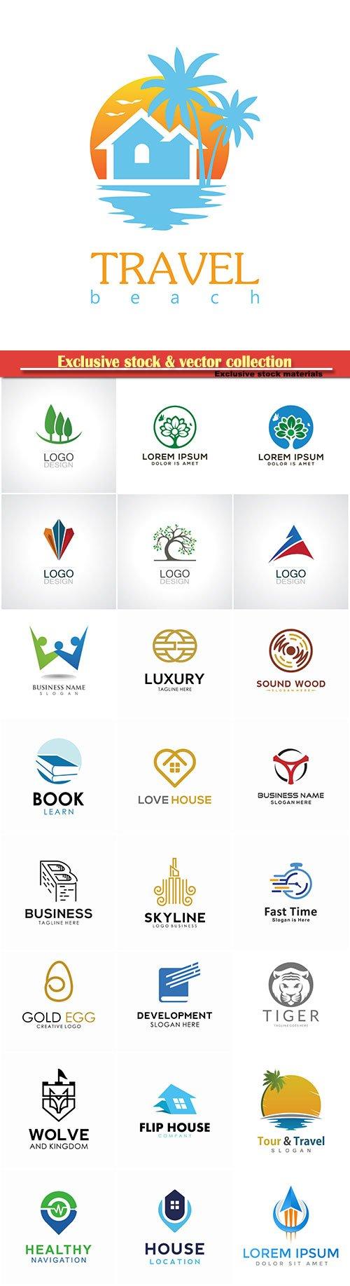 Logo vector template business set # 18