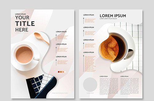 Coffee poster design set 584741